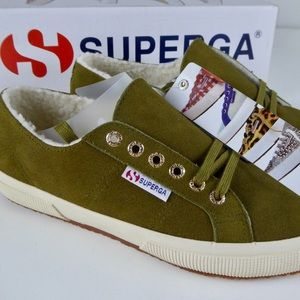 Suede Superga Low Sneakers & Soft Fleece Lining